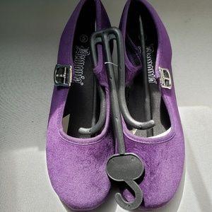 Demonia Purple Velvet Flats